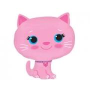 Котёнок розовый, гелиевый, фольгированный шар