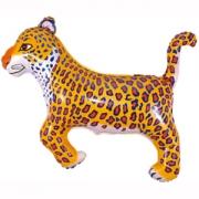 Леопард черный, гелиевый, фольгированный шар