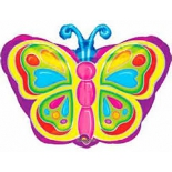 Бабочка яркая, гелиевый, фольгированный шар