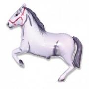 Лошадь белая, гелиевый, фольгированный шар