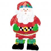 Санта в сапогах, ходячая фигура, гелиевый, фольгированный шар