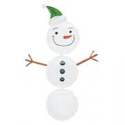 Снеговик, гелиевый, фольгированный шар