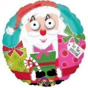 Санта Глаза-3D, гелиевый, фольгированный шар