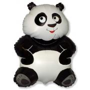 Панда, гелиевый, фольгированный шар