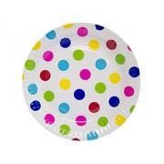 Тарелка бумажная Горошек мульти