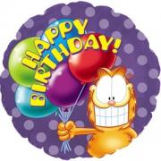 Гарфилд с шариками, гелиевый, фольгированный шар