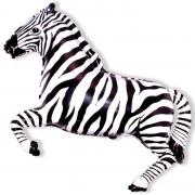Зебра, гелиевый, фольгированный шар