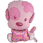 Маленький щенок девочка, гелиевый, фольгированный шар
