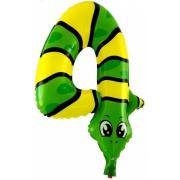 """Цифра  мини 4 """"Змея"""" ,  фольгированный шар"""