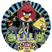 Angry Birds, музыкальный, гелиевый, фольгированный шар
