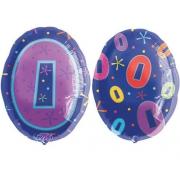 Цифра 0, мульти, гелиевый, фольгированный шар