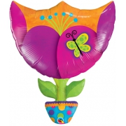 Тюльпан, гелиевый, фольгированный шар
