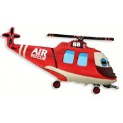 Вертолет спасательный, гелиевый, фольгированный шар