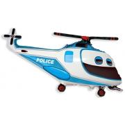 Вертолет полицейский, гелиевый, фольгированный шар