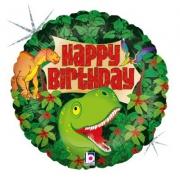 """Динозавры """"Happy Birthday"""", гелиевый, фольгированный шар"""