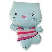 Котенок (голубой), гелиевый, фольгированный шар