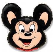 Мощный мышонок (чёрный), гелиевый, фольгированный шар