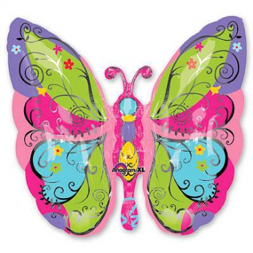 Бабочка садовая, гелиевый, фольгированный шар