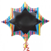 Звезда с маркером, гелиевый, фольгированный шар