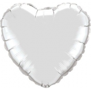 """Сердце,18"""", гелиевый, серебро, фольгированный шар"""