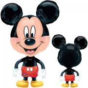 Микки Маус большеголоовый, ходячая фигура, гелиевый, фольгированный шар