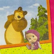 """Салфетка """"Маша и Медведь"""""""