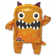 Оранжевый монстр, ходячая фигура, гелиевый, фольгированный шар
