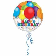 Happy Birthday Воздушные шары, гелиевый, фольгированный шар