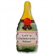 Бутылка Шампанского, гелиевый, фольгированный шар