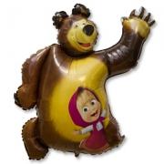 Маша и медведь, гелиевый, фольгированный шар
