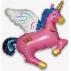 Единорог волшебный розовый, гелиевый, фольгированный шар