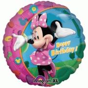 Happy Birthday Минни, гелиевый, фольгированный шар