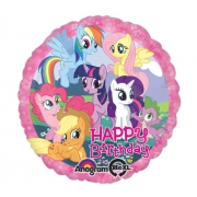 Happy Birthday My little pony, гелиевый, фольгированный шар