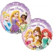 Happy Birthday Принцессы, гелиевый, фольгированный шар