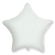 """Звезда, 18"""", гелиевый, белый, фольгированный шар"""