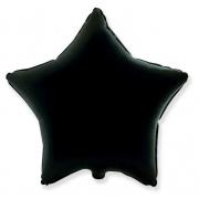 """Звезда, 18"""", гелиевый, черный, фольгированный шар"""