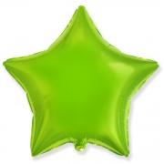 """Звезда, 18"""", гелиевый, лайм, фольгированный шар"""