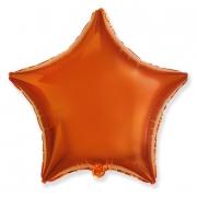"""Звезда, 18"""", гелиевый, оранжевый, фольгированный шар"""