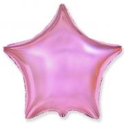 """Звезда, 18"""", гелиевый, розовый нежный, фольгированный шар"""