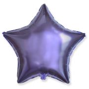 """Звезда, 18"""", гелиевый, сиреневый, фольгированный шар"""