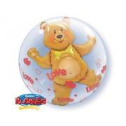 Мишка с сердцами, шар в шаре