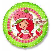 Девочка клубничка, гелиевый, фольгированный шар