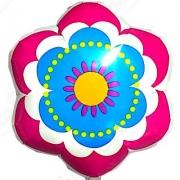 Цветок весенний розово-голубой, гелиевый, фольгированный шар