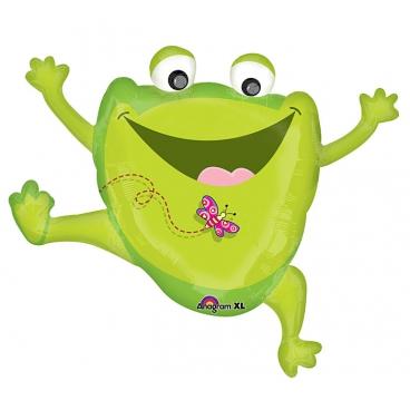 Лягушонок веселый, гелиевый, фольгированный шар