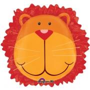 Лев голова, гелиевый, фольгированный шар