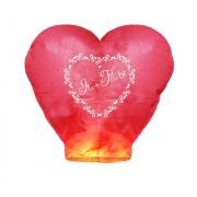 """Небесный фонарик сердце """"Я + Ты"""", красный"""