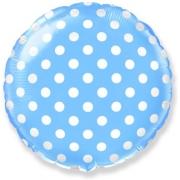 Горох (голубой), гелиевый, фольгированный шар