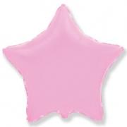 """Звезда, 18"""", гелиевый, розовый, фольгированный шар"""