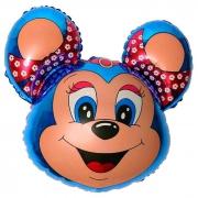 Бамси Маус (синий), гелиевый, фольгированный шар
