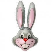Заяц (серый), гелиевый, фольгированный шар